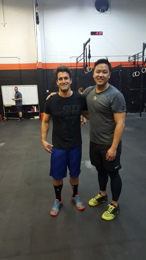 Small world! A friend from my local box, Crossfit Oldtown Alexandria, also randomly dropped in!